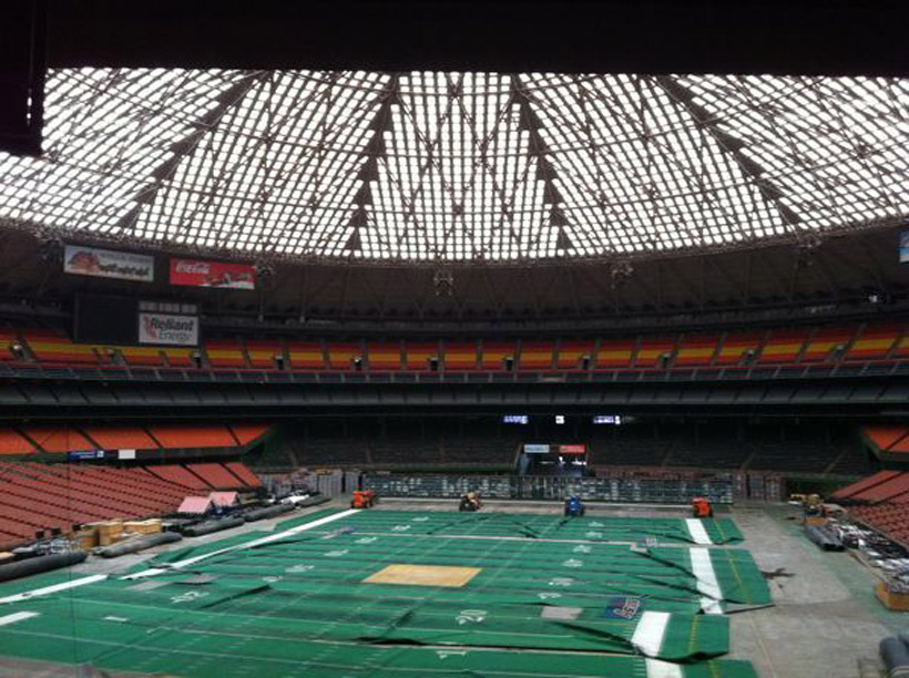 Houston Astrodome abandoned mlb baseball field