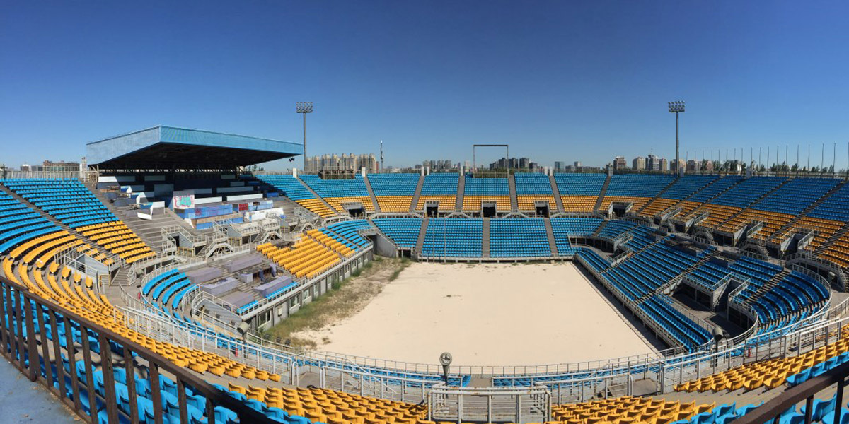 Chaoyang Park Beach Volleyball Ground abandoned summer Olympic stadium