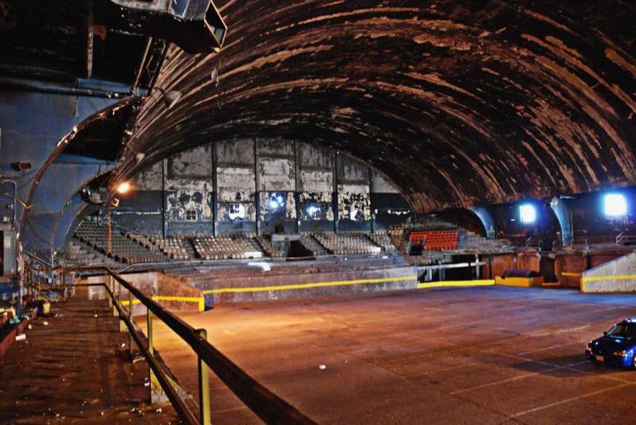 Washington Coliseum abandoned stadium parking lot