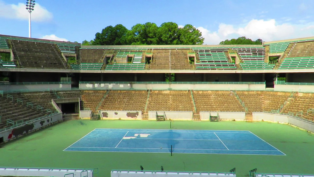 stone mountain tennis center abandoned tennis stadium