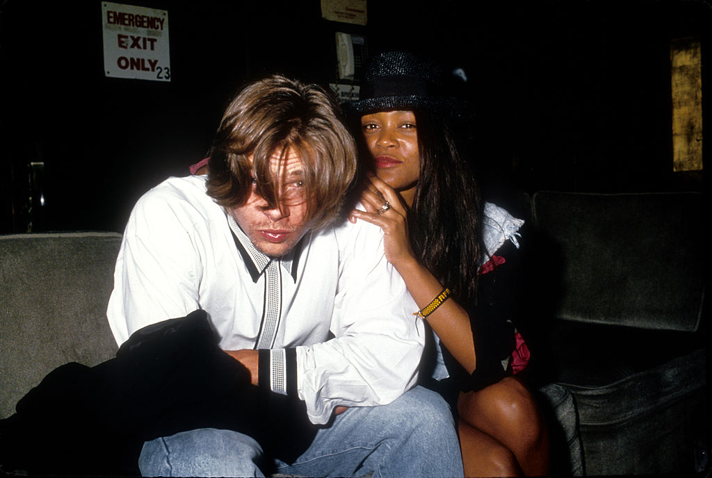Actors Brad Pitt and Robin Givens