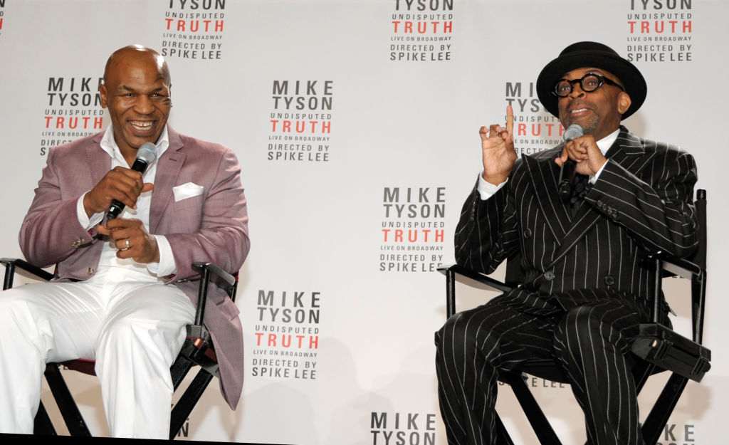 Mike Tyson and Spike Lee attend the Broadway's