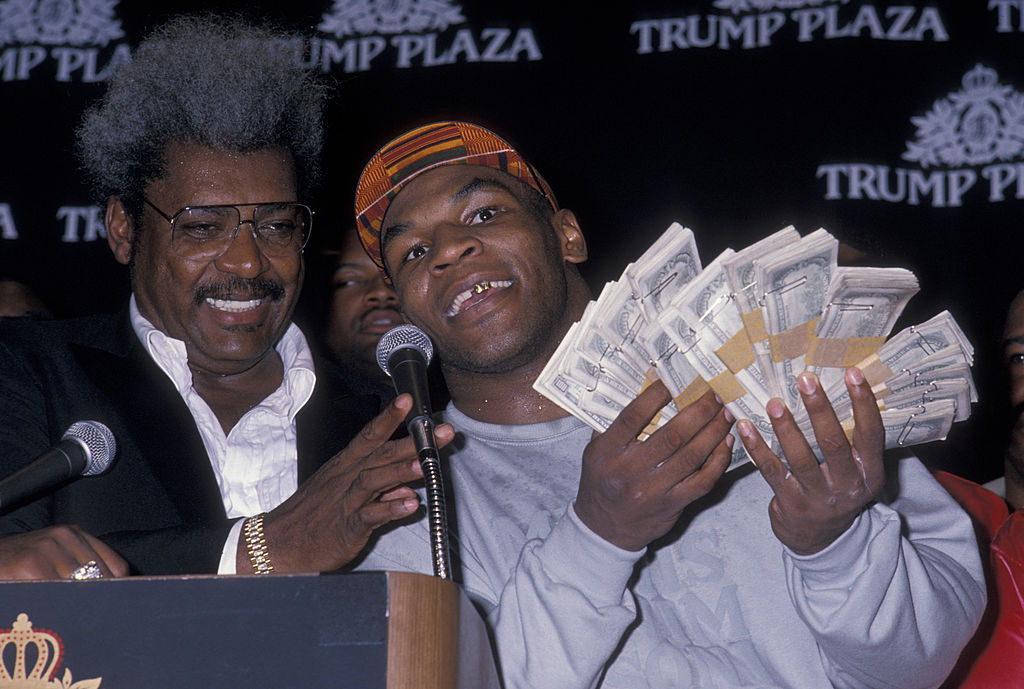 Boxing Promoter Don King and athlete Mike Tyson