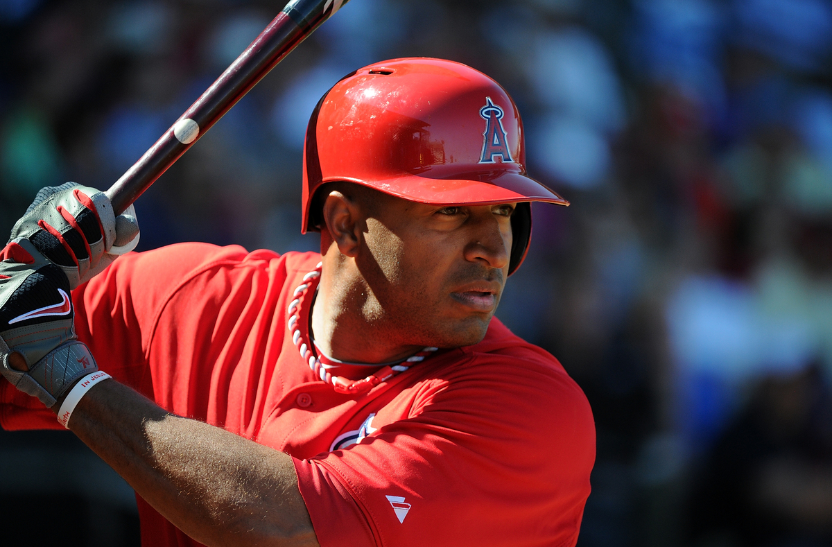 Vernon Wells #10 of the Los Angeles Angels of Anaheim