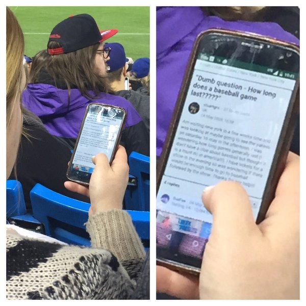 fan looking up how long a baseball game lasts