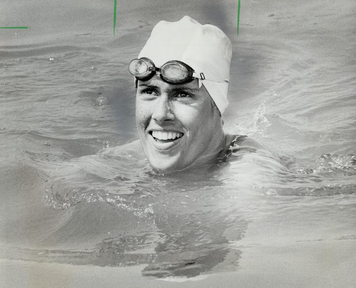 Diana Nyad after swim across Lake Ontario
