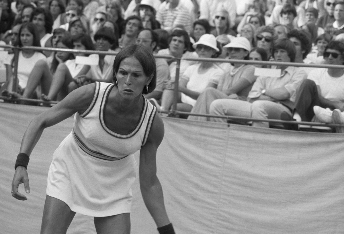 Renee Richards on the court