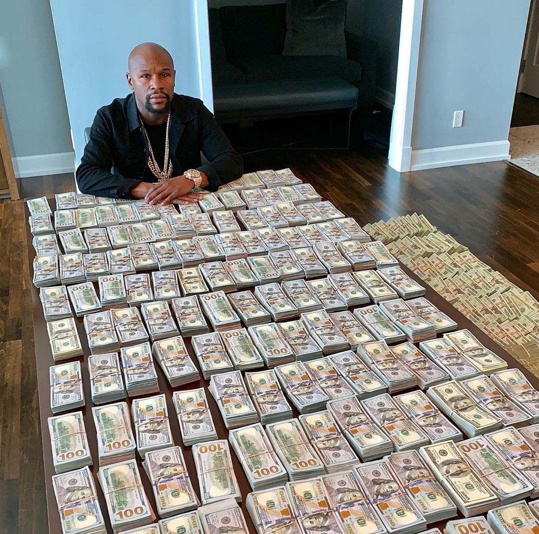 floyd with a ton of cash