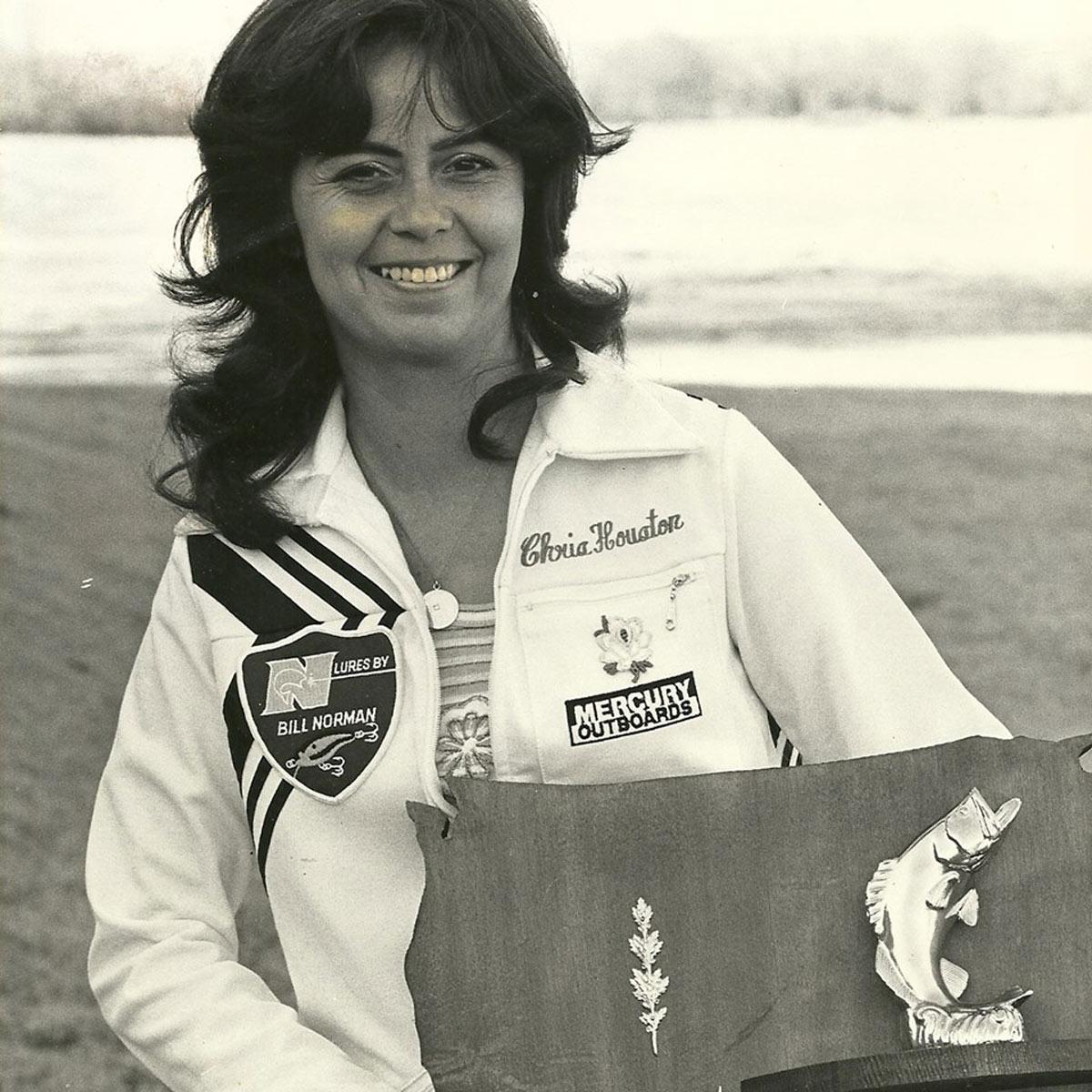 Chris Houston with plaque