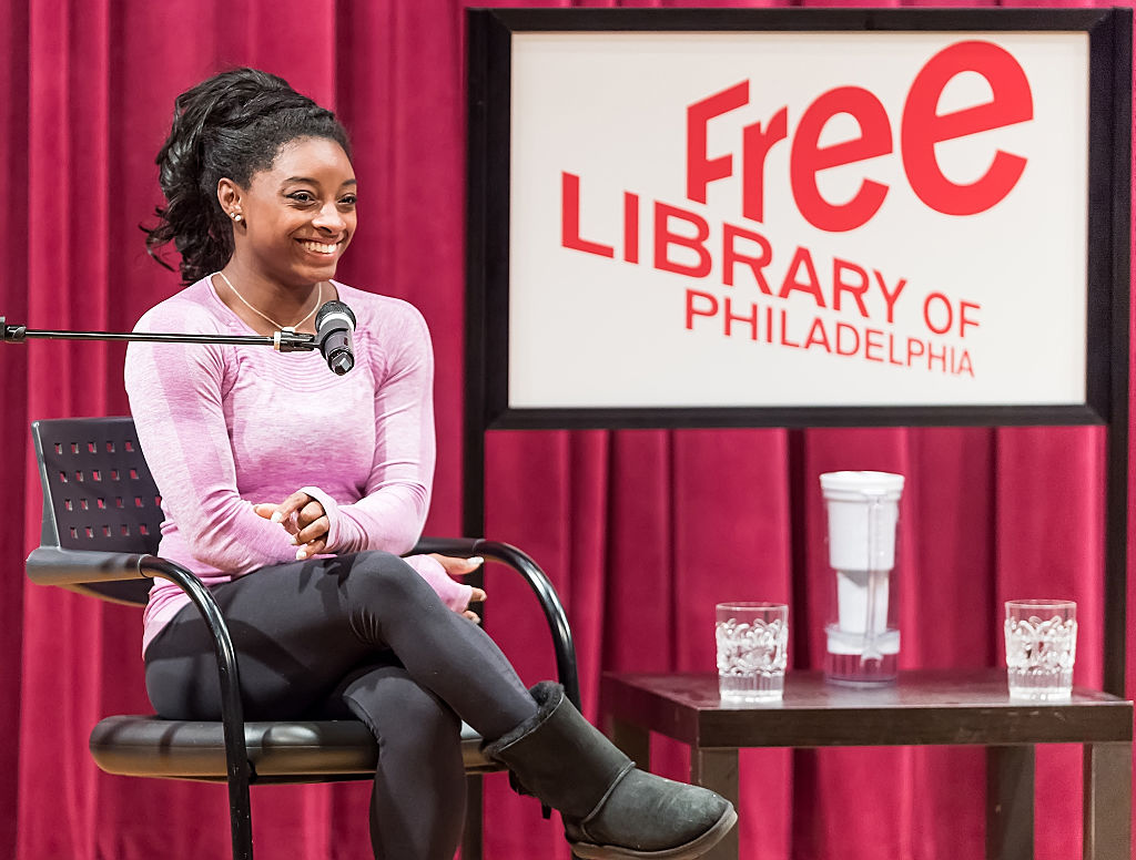 simone biles talking about her book