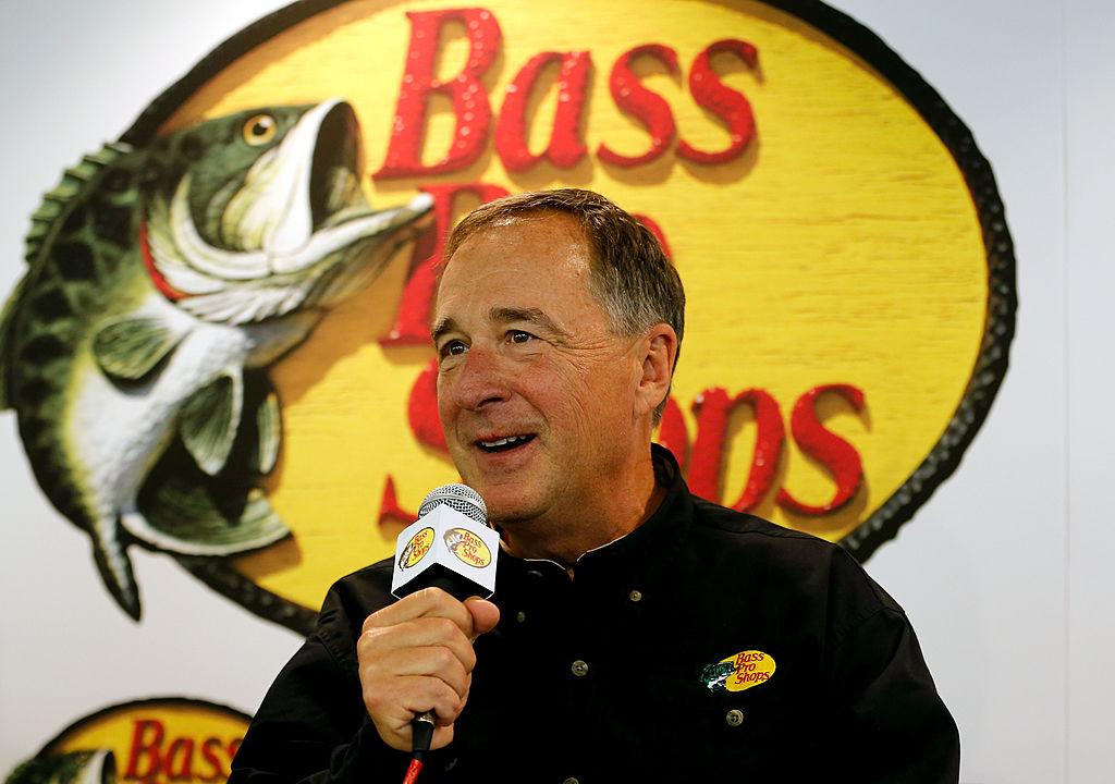 Bass Pro Shops founder Johnny Morris speaks during a press conference