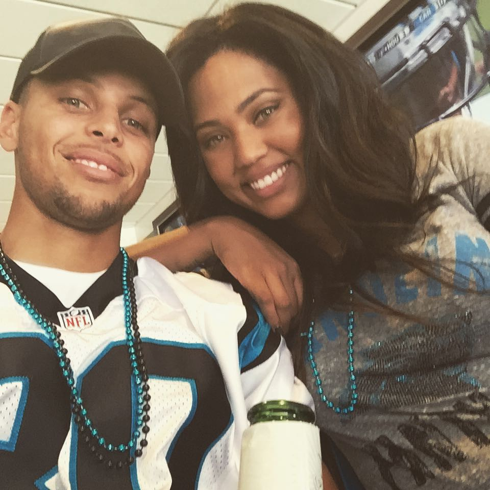 steph curry in a panthers jersey