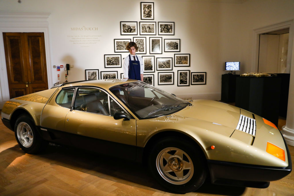 Gold Ferrari 512BB