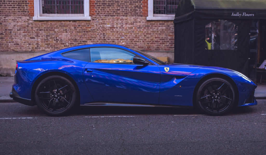 Blue Ferrari 599