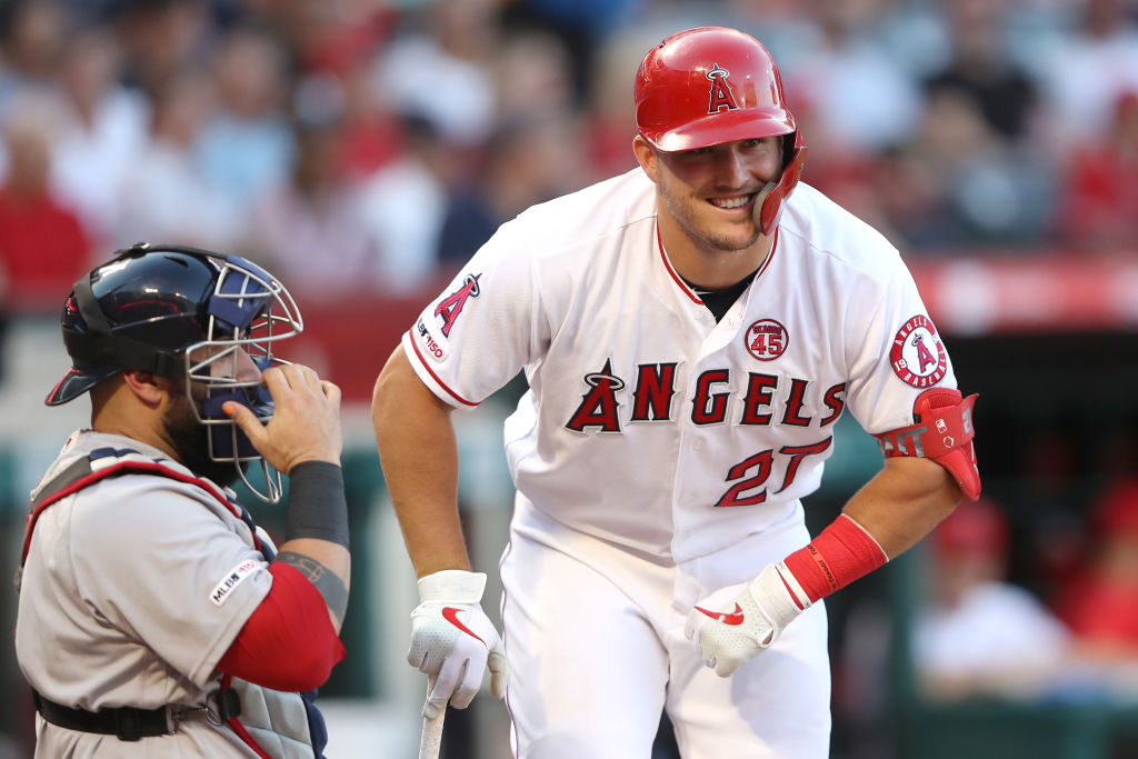 mike trout athletes to see play once