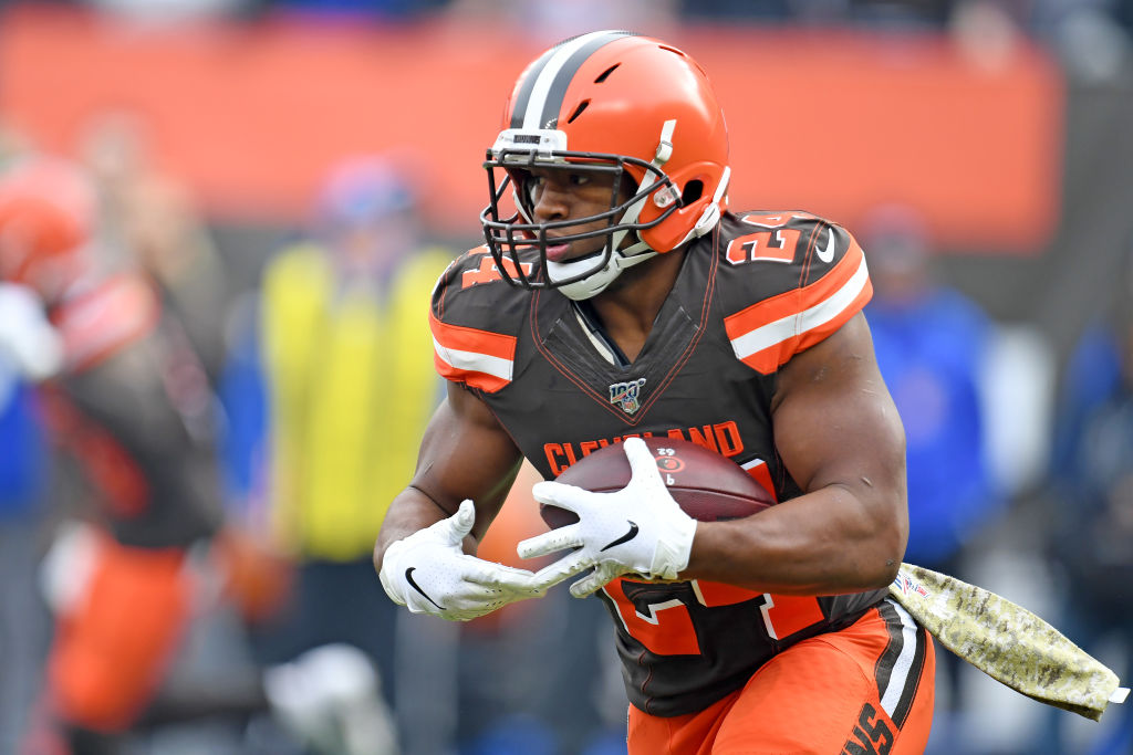 nick chubb of the cleveland browns
