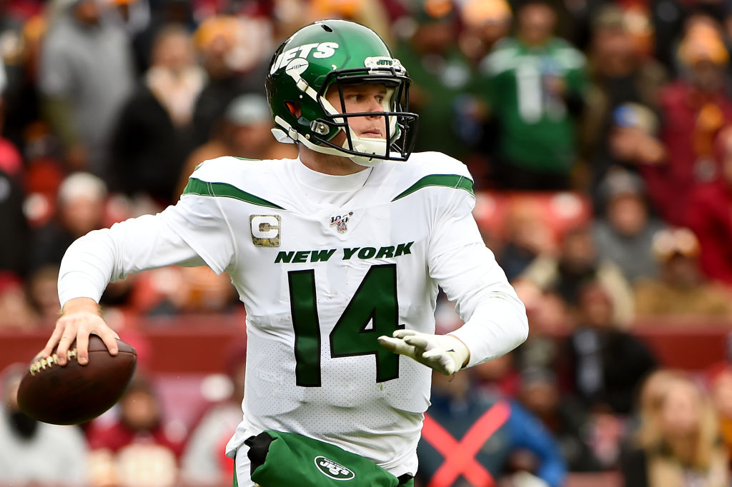 sam darnold of the new york jets