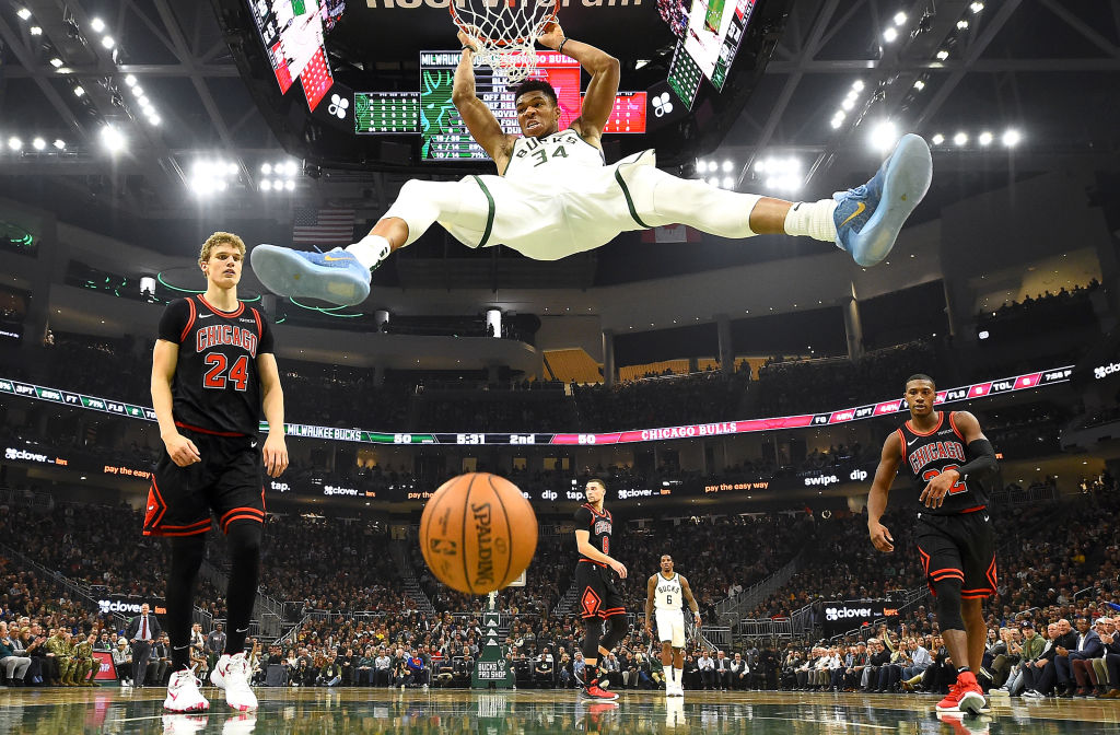 Giannis Antetokounmpo athletes to see play once