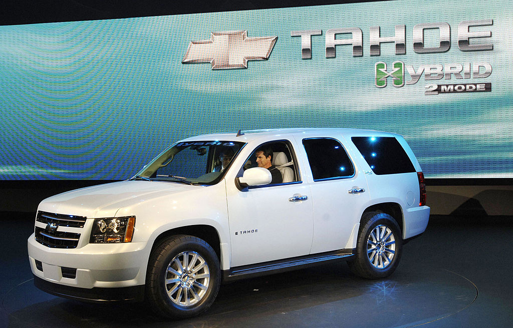 White Tahoe hybrid