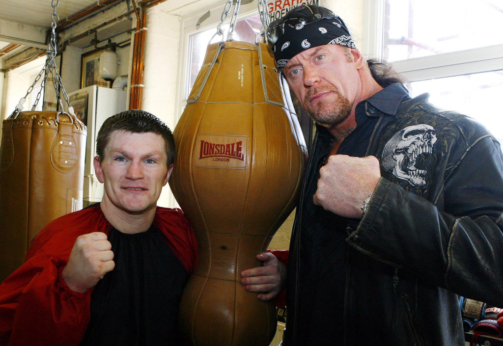 the undertaker in a boxing gym