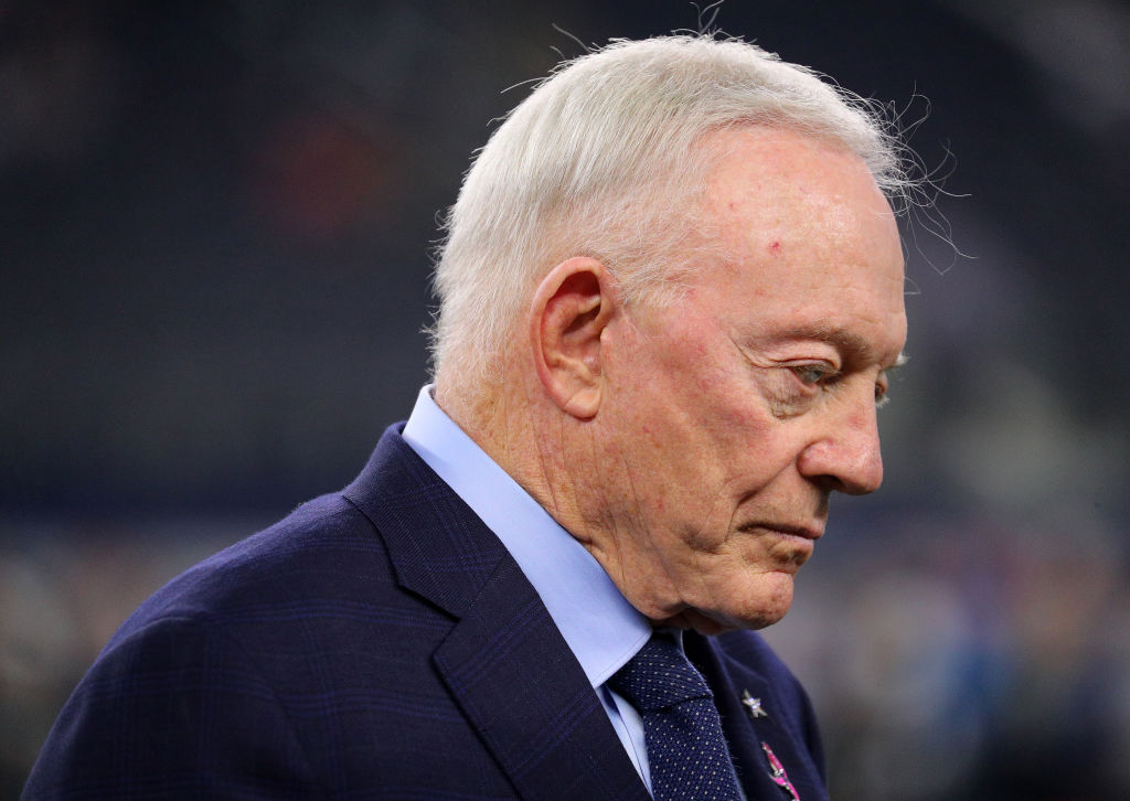 jerry jones looking sad
