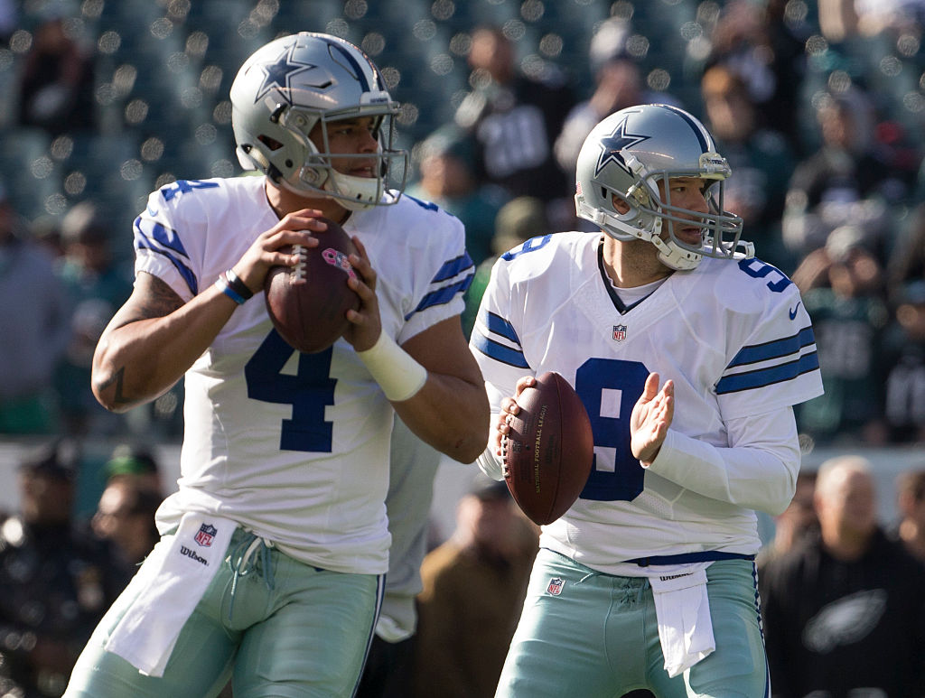 tony romo and dak prescott