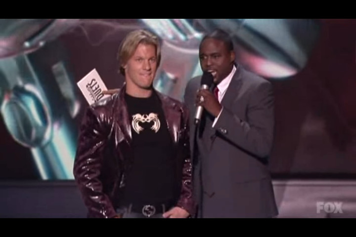 chris jericho being eliminated from celebrity duets