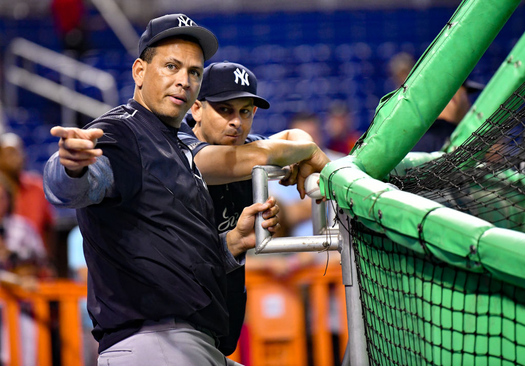 alex rodriguez with the yankees in 2018