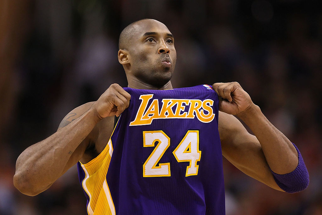 kobe bryant and his 24 jersey