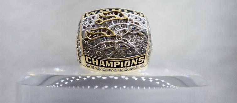 super bowl ring on mount