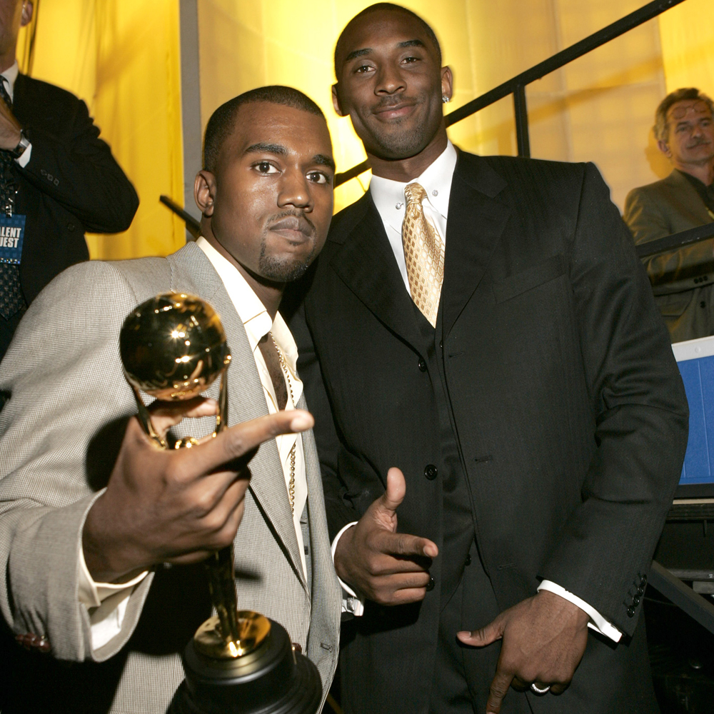 kobe and kanye west at awards