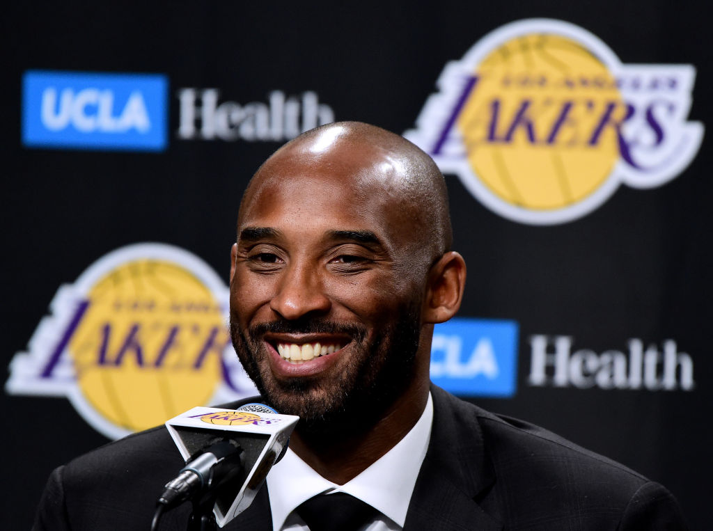 kobe bryant during a press conference