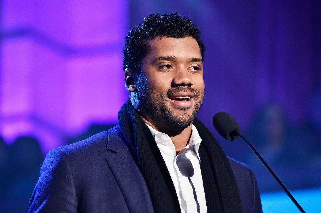russell wilson at church