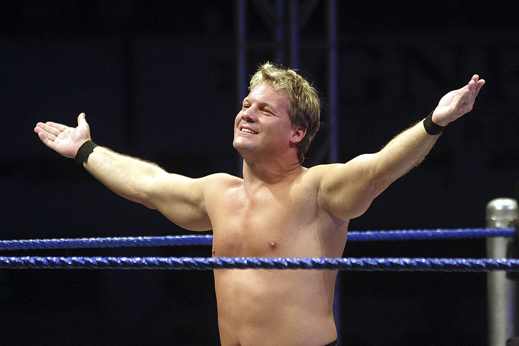 chris jericho showing off in ring