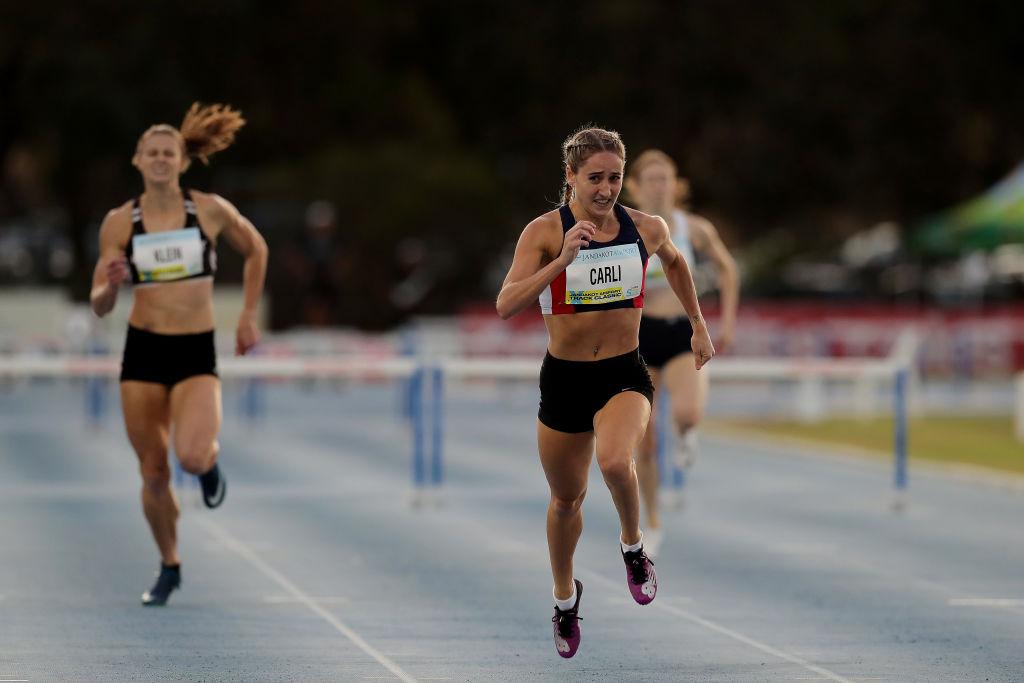 sprinters running a race