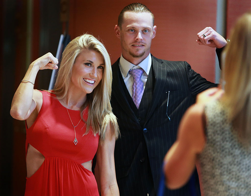 clay buchholz and his wife lindsay