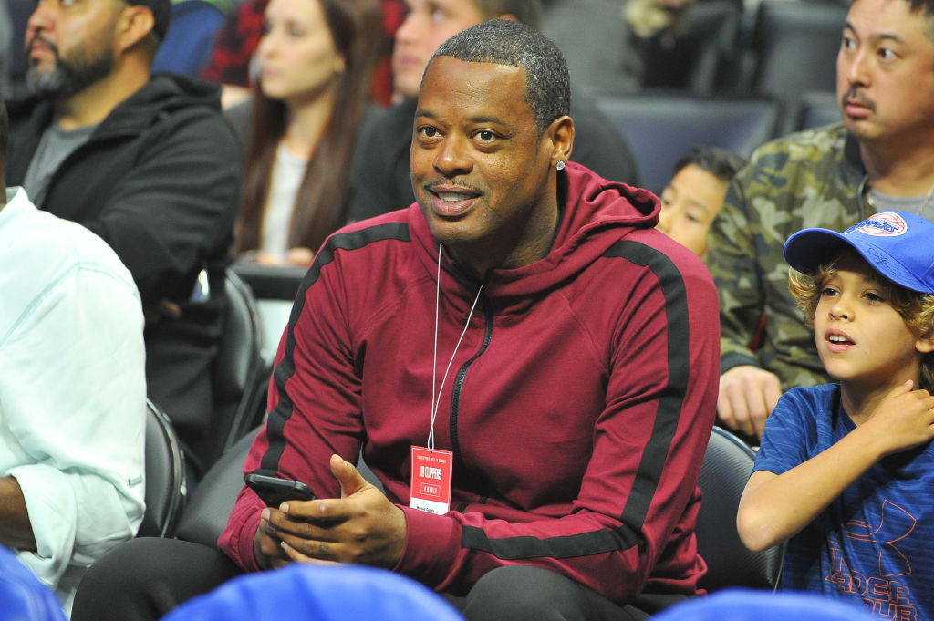 marcus camby sitting and watching a game