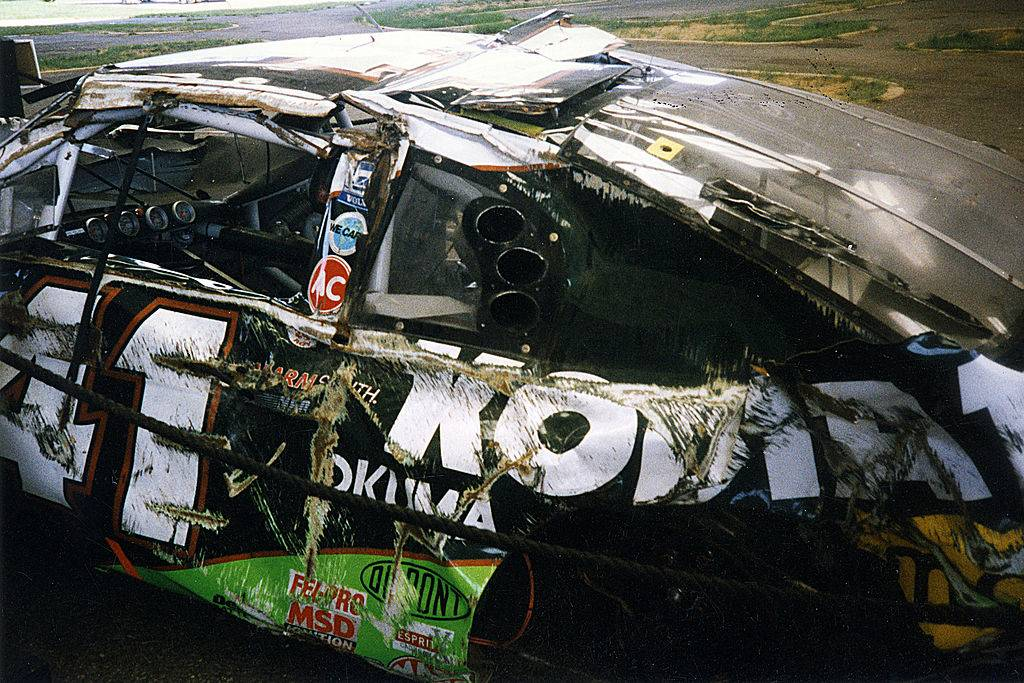 Side of destroyed car