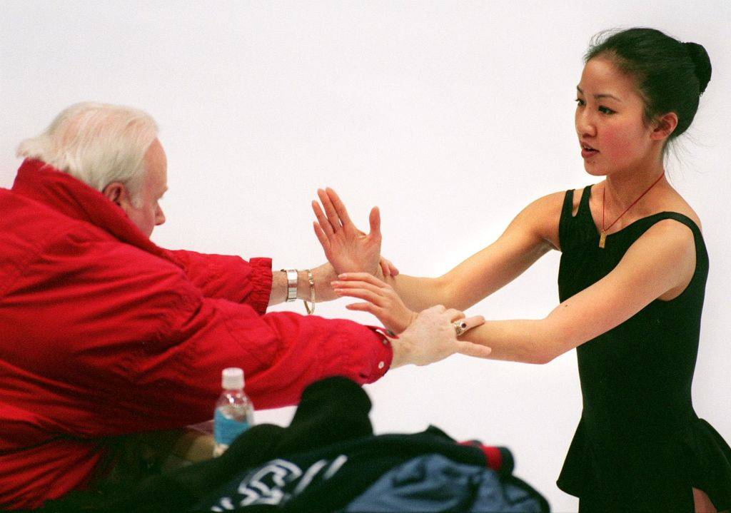 michelle kwan with her coach