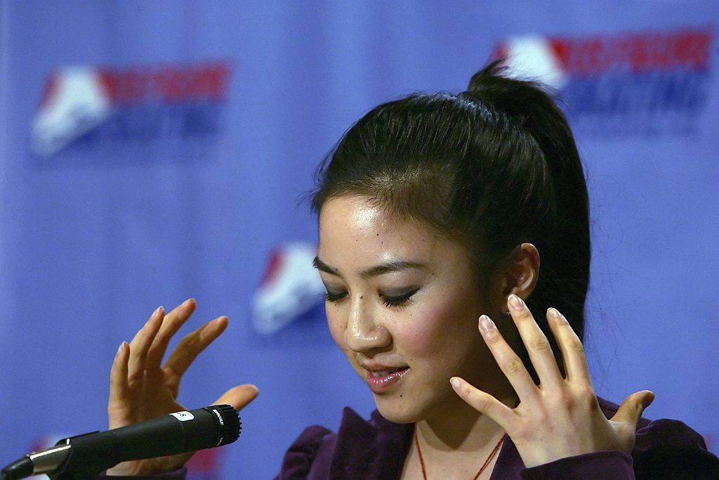 michelle kwan holds a press conference