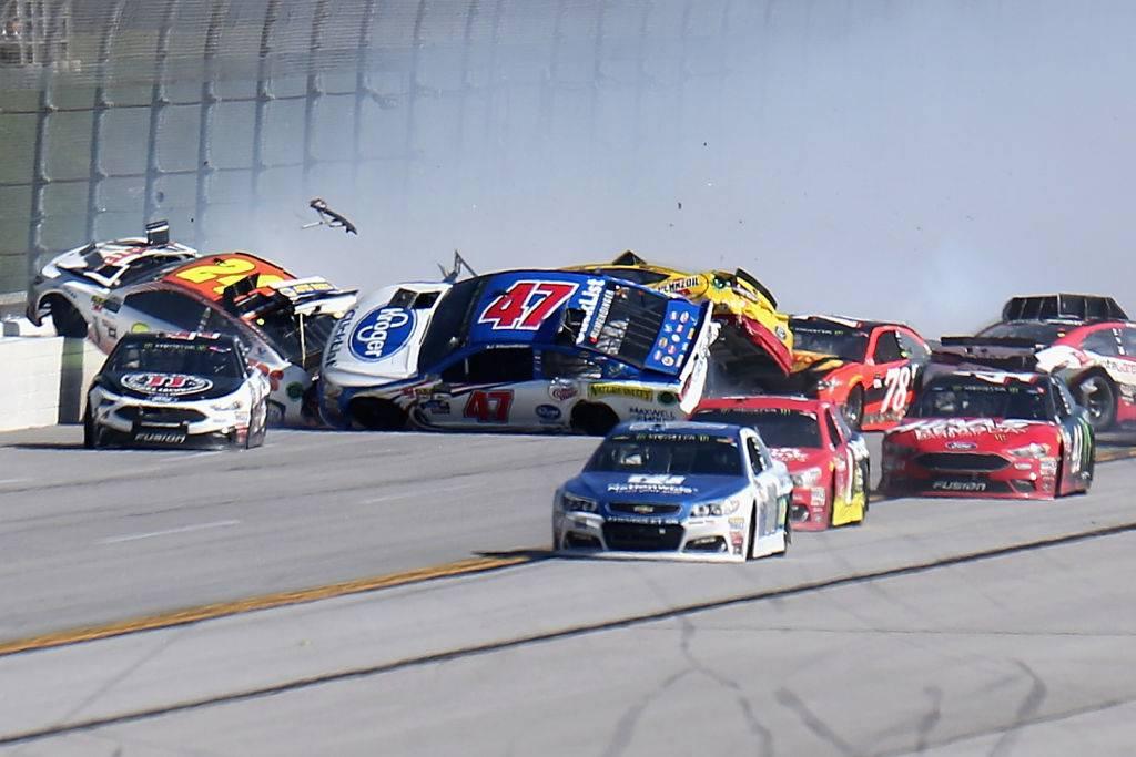 Pileup of cars
