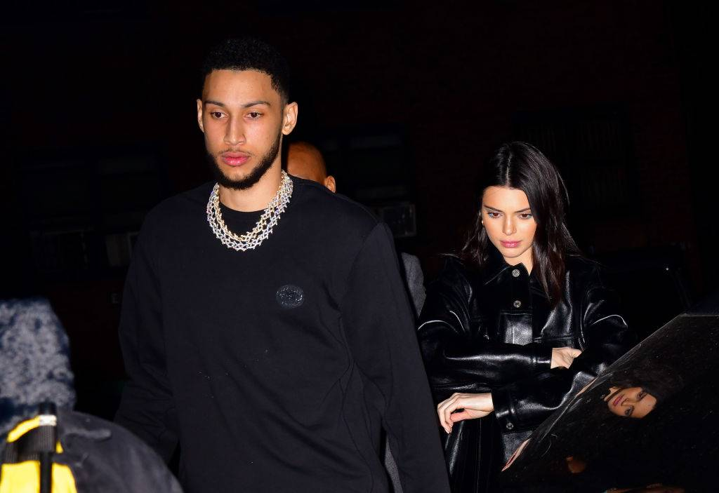 Ben Simmons and Kendall Jenner arrive to Marquee New York on February 14, 2019 in New York City.