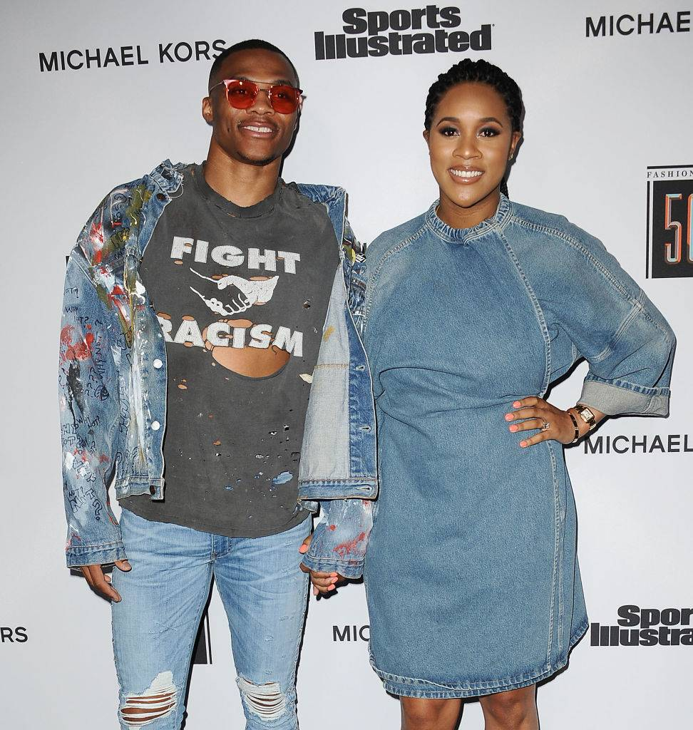 NBA player Russell Westbrook and wife Nina Earl