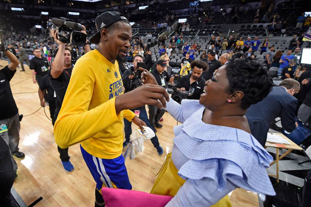 kevin durant and his mother