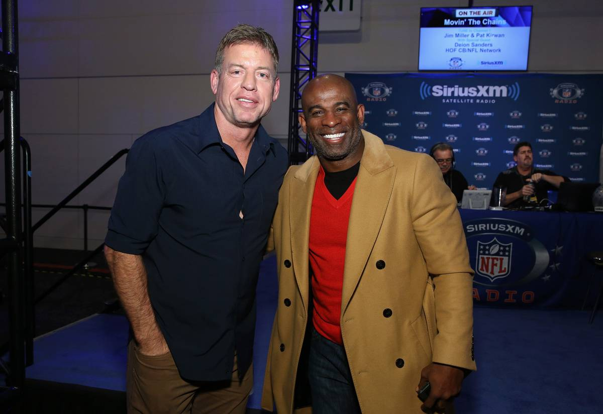 troy aikman with deon sanders