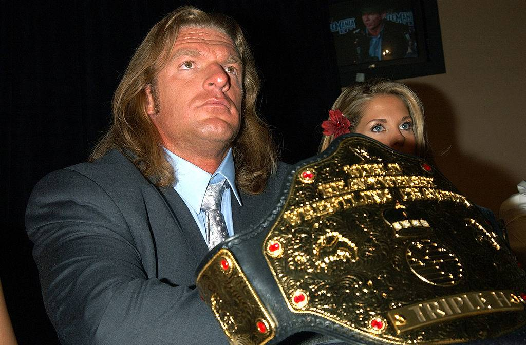 triple h with a belt