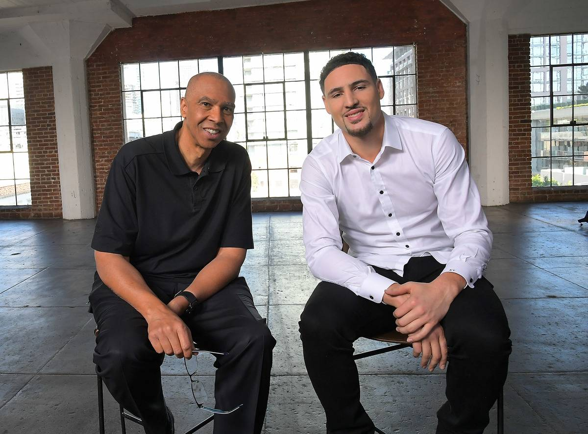 Mychal Thompson and Klay Thompson