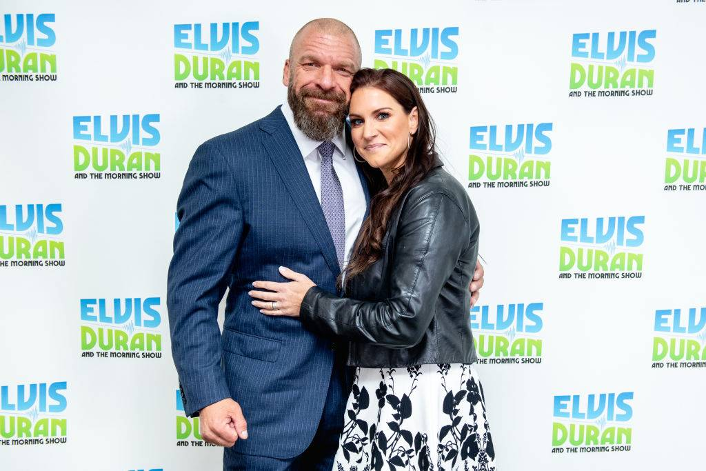 Triple H and Stephanie McMahon posed for a photo