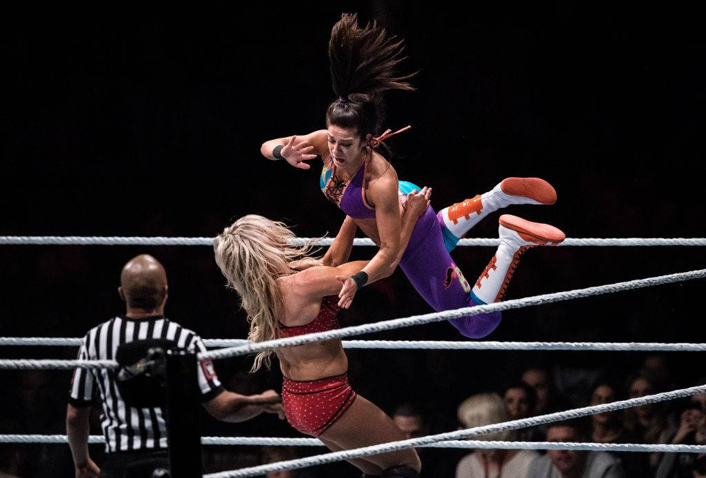 two female wrestlers in the ring