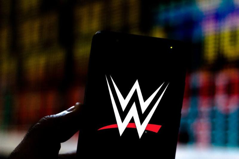 a smartphone with the WWE logo